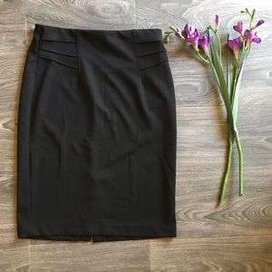 Black pencil skirt with a slit in the back
